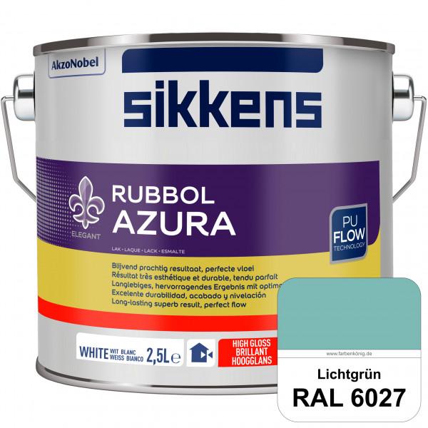 Rubbol Azura (RAL 6027 Lichtgrün) hochglänzender Lack (löselmittelhaltig) innen & außen