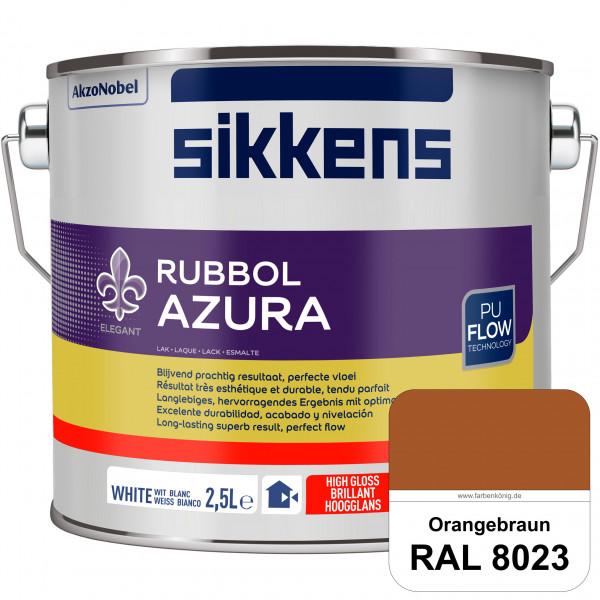 Rubbol Azura (RAL 8023 Orangebraun) hochglänzender Lack (löselmittelhaltig) innen & außen