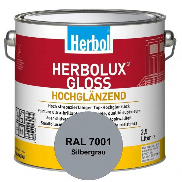 Herbolux Gloss (RAL 7001 Silbergrau) strapazierfähiger Top-Hochglanzlack (lösemittelhaltig) für inne