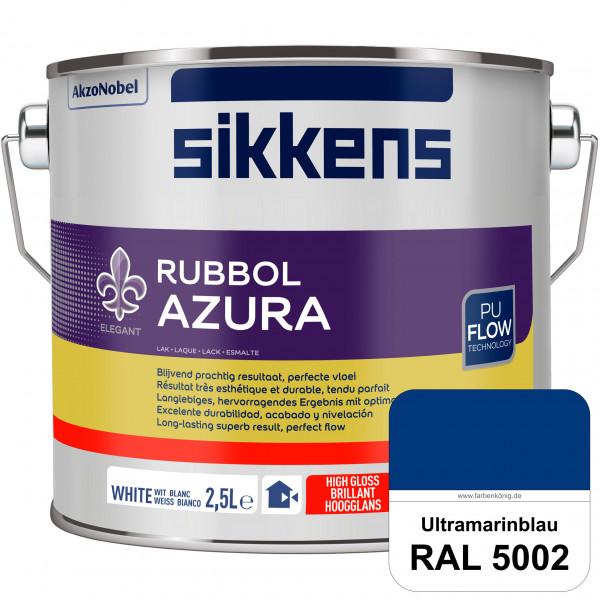 Rubbol Azura (RAL 5002 Ultramarinblau) hochglänzender Lack (löselmittelhaltig) innen & außen