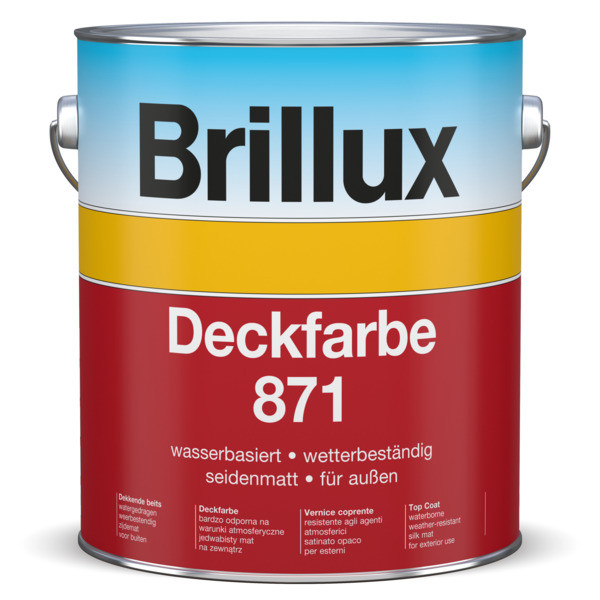 Deckfarbe 871 farbig (RAL, NCS, Brillux Scala uvm.)