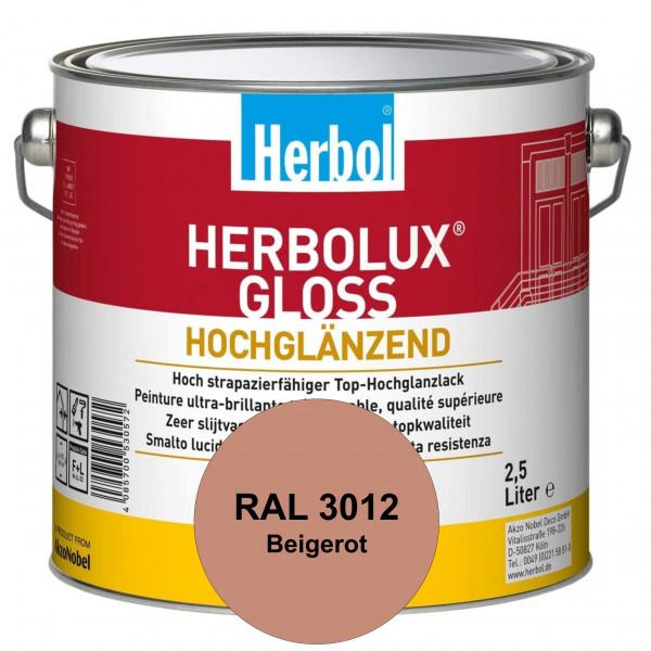 Herbolux Gloss (RAL 3012 Beigerot) strapazierfähiger Top-Hochglanzlack (lösemittelhaltig) für innen