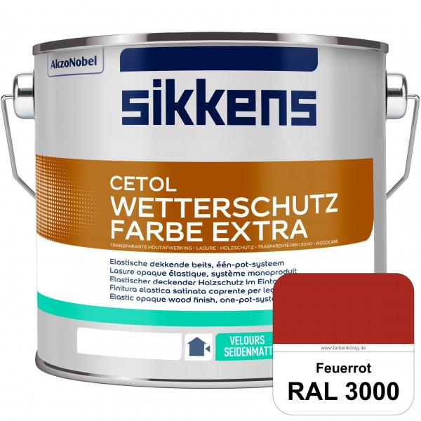 Cetol Wetterschutzfarbe Extra (RAL 3000 Feuerrot)
