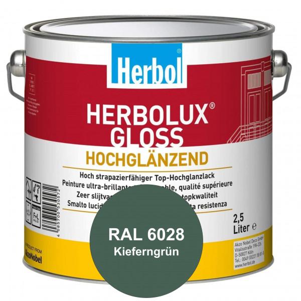 Herbolux Gloss (RAL 6028 Kieferngrün) strapazierfähiger Top-Hochglanzlack (lösemittelhaltig) für inn