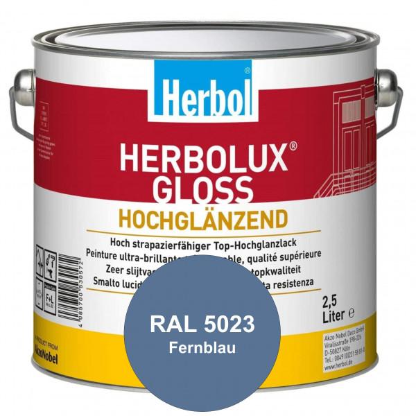 Herbolux Gloss (RAL 5023 Fernblau) strapazierfähiger Top-Hochglanzlack (lösemittelhaltig) für innen