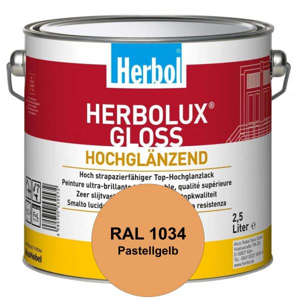 Herbolux Gloss (RAL 1034 Pastellgelb) strapazierfähiger Top-Hochglanzlack (lösemittelhaltig) für inn