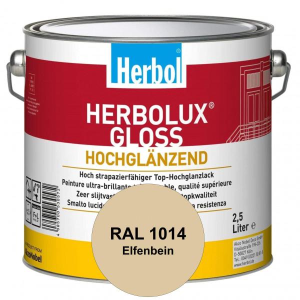 Herbolux Gloss (RAL 1014 Elfenbein) strapazierfähiger Top-Hochglanzlack (lösemittelhaltig) für innen