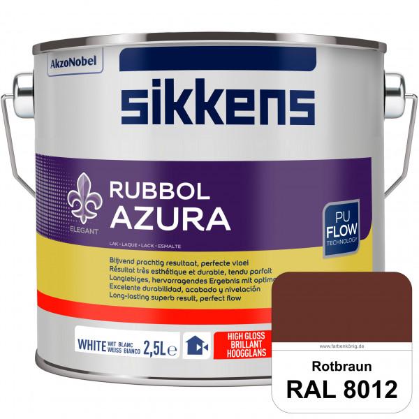 Rubbol Azura (RAL 8012 Rotbraun) hochglänzender Lack (löselmittelhaltig) innen & außen