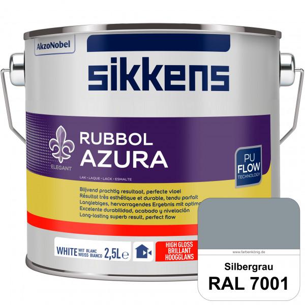 Rubbol Azura (RAL 7001 Silbergrau) hochglänzender Lack (löselmittelhaltig) innen & außen