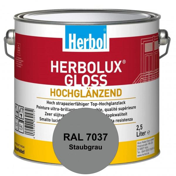 Herbolux Gloss (RAL 7037 Staubgrau) strapazierfähiger Top-Hochglanzlack (lösemittelhaltig) für innen