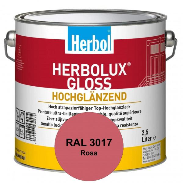 Herbolux Gloss (RAL 3017 Rosa) strapazierfähiger Top-Hochglanzlack (lösemittelhaltig) für innen & au