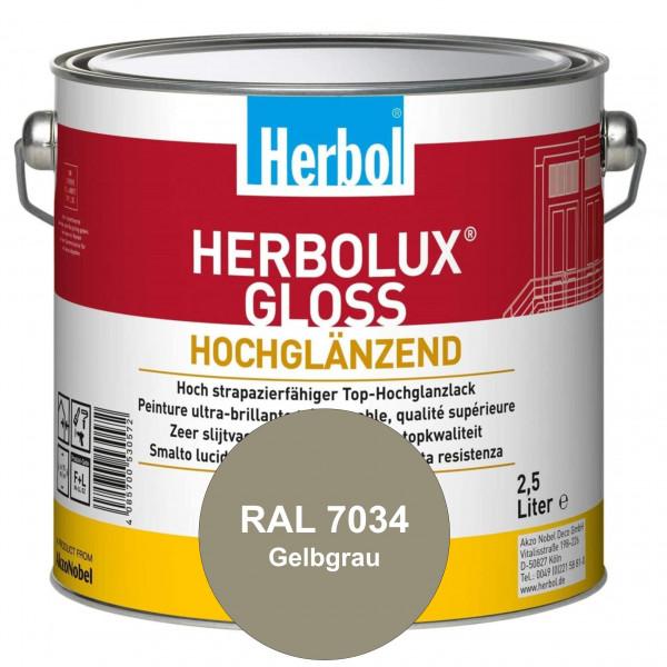 Herbolux Gloss (RAL 7034 Gelbgrau) strapazierfähiger Top-Hochglanzlack (lösemittelhaltig) für innen