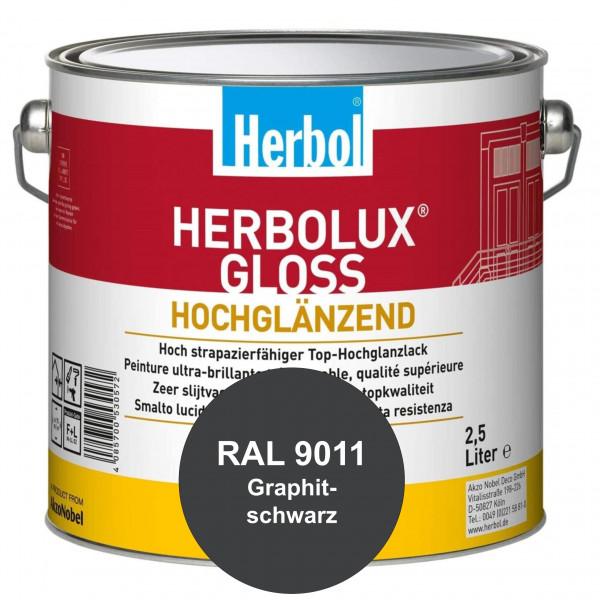 Herbolux Gloss (RAL 9011 Graphitschwarz) strapazierfähiger Top-Hochglanzlack (lösemittelhaltig) für