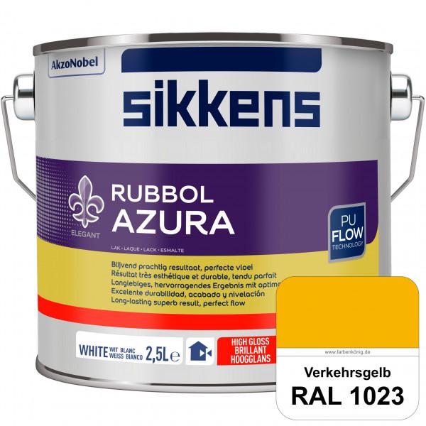 Rubbol Azura (RAL 1023 Verkehrsgelb) hochglänzender Lack (löselmittelhaltig) innen & außen