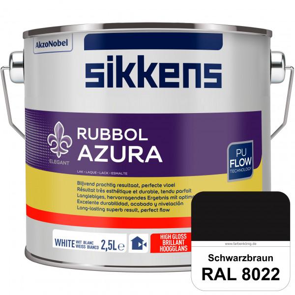 Rubbol Azura (RAL 8022 Schwarzbraun) hochglänzender Lack (löselmittelhaltig) innen & außen
