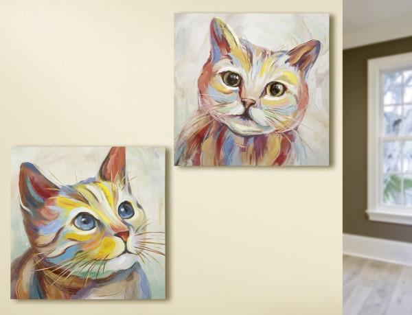 """Gemälde """"Katzen"""""""