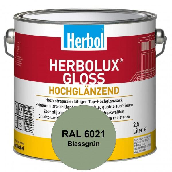 Herbolux Gloss (RAL 6021 Blassgrün) strapazierfähiger Top-Hochglanzlack (lösemittelhaltig) für innen