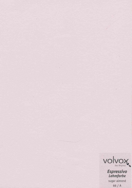 Volvox Espressivo Lehmfarbe - sugar almond