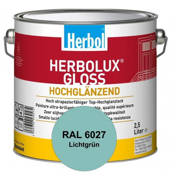 Herbolux Gloss (RAL 6027 Lichtgrün) strapazierfähiger Top-Hochglanzlack (lösemittelhaltig) für innen