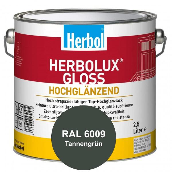 Herbolux Gloss (RAL 6009 Tannengrün) strapazierfähiger Top-Hochglanzlack (lösemittelhaltig) für inne