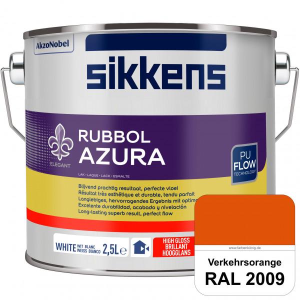 Rubbol Azura (RAL 2009 Verkehrsorange) hochglänzender Lack (löselmittelhaltig) innen & außen