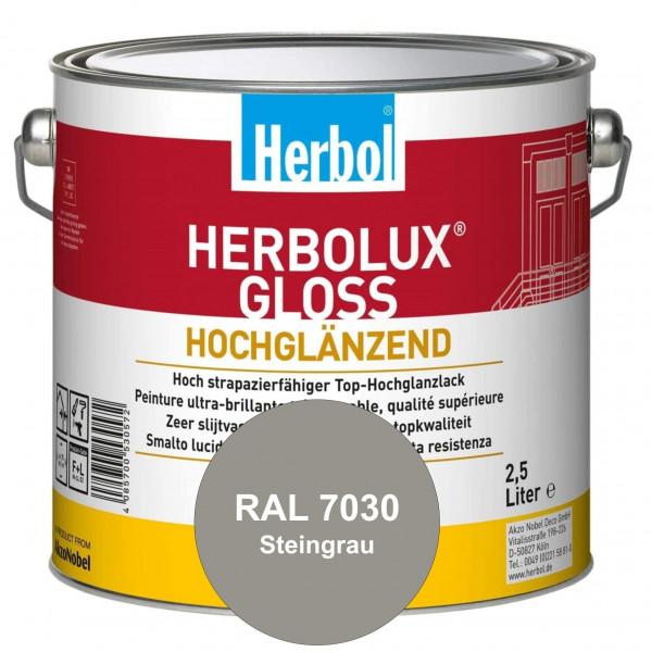 Herbolux Gloss (RAL 7030 Steingrau) strapazierfähiger Top-Hochglanzlack (lösemittelhaltig) für innen