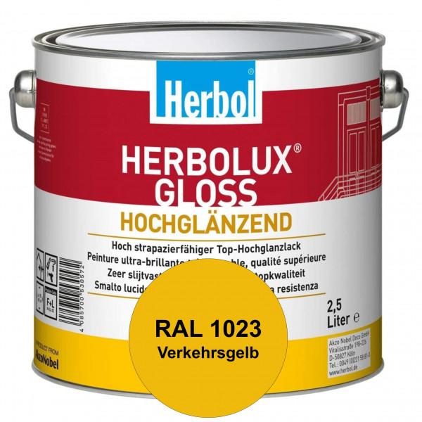 Herbolux Gloss (RAL 1023 Verkehrsgelb) strapazierfähiger Top-Hochglanzlack (lösemittelhaltig) für in