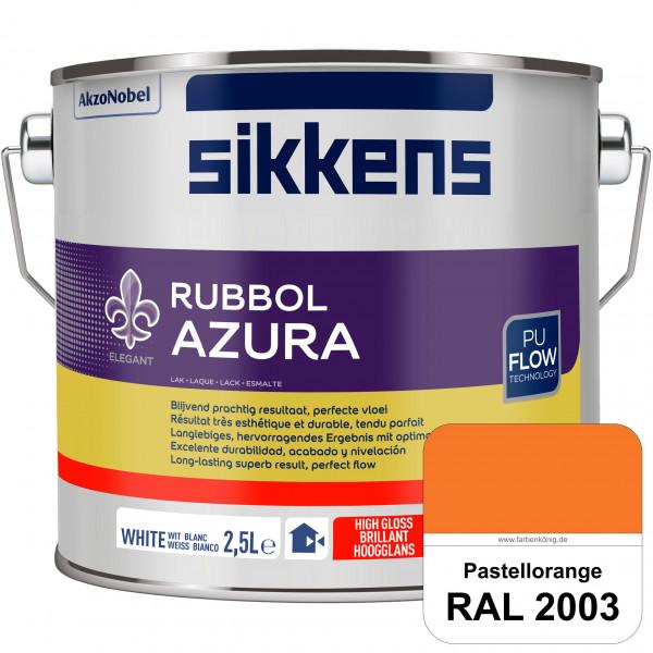 Rubbol Azura (RAL 2003 Pastellorange) hochglänzender Lack (löselmittelhaltig) innen & außen