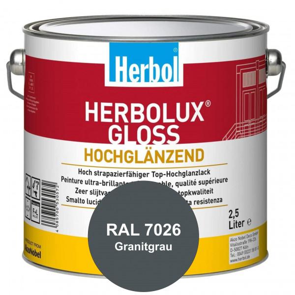 Herbolux Gloss (RAL 7026 Granitgrau) strapazierfähiger Top-Hochglanzlack (lösemittelhaltig) für inne