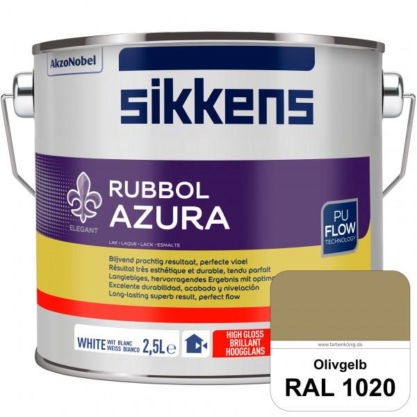 Rubbol Azura (RAL 1020 Olivgelb) hochglänzender Lack (löselmittelhaltig) innen & außen