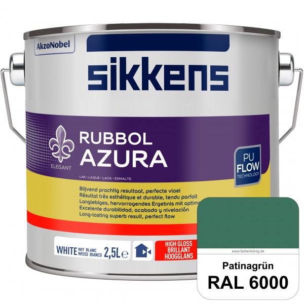 Rubbol Azura (RAL 6000 Patinagrün) hochglänzender Lack (löselmittelhaltig) innen & außen