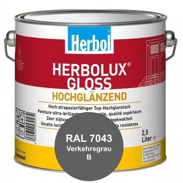 Herbolux Gloss (RAL 7043 Verkehrsgrau B) strapazierfähiger Top-Hochglanzlack (lösemittelhaltig) für