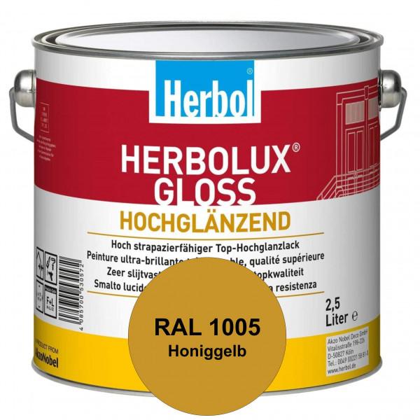 Herbolux Gloss (RAL 1005 Honiggelb) strapazierfähiger Top-Hochglanzlack (lösemittelhaltig) für innen