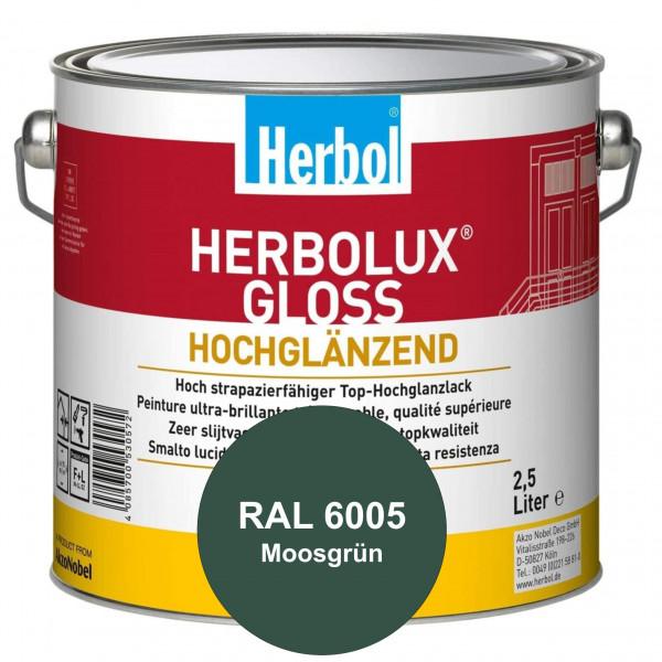 Herbolux Gloss (RAL 6005 Moosgrün) strapazierfähiger Top-Hochglanzlack (lösemittelhaltig) für innen