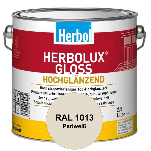 Herbolux Gloss (RAL 1013 Perlweiß) strapazierfähiger Top-Hochglanzlack (lösemittelhaltig) für innen