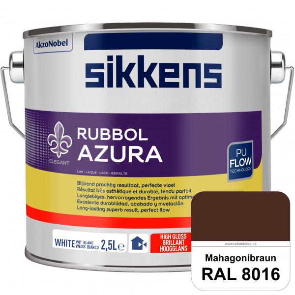 Rubbol Azura (RAL 8016 Mahagonibraun) hochglänzender Lack (löselmittelhaltig) innen & außen