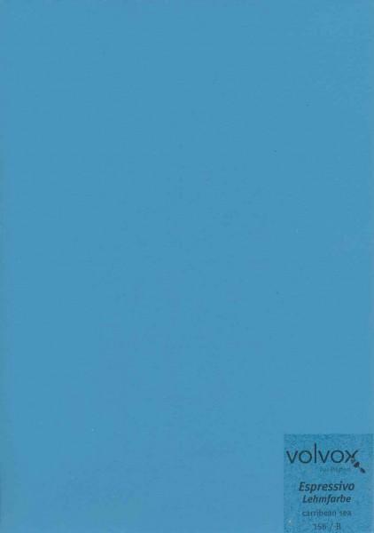 Volvox Espressivo Lehmfarbe - caribbean sea