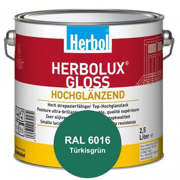 Herbolux Gloss (RAL 6016 Türrkisgrün) strapazierfähiger Top-Hochglanzlack (lösemittelhaltig) für inn