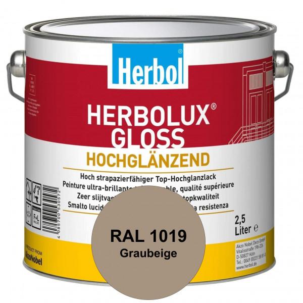 Herbolux Gloss (RAL 1019 Graubeige) strapazierfähiger Top-Hochglanzlack (lösemittelhaltig) für innen